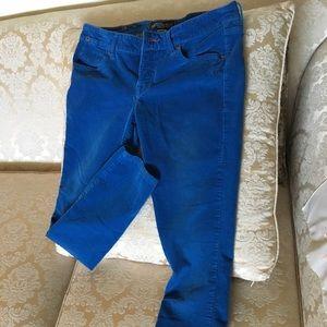 Bright blue corduroy Volcom Matchstick jeans